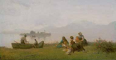 "Julius Noerr (1827-1897) ""Picknick am Chiemsee"", ca. 1875"