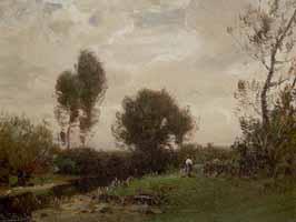 """Ludwig Willroider (1845-1910) """"Altwasser"""", ca. 1890"""