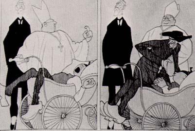 """Olaf Gulbransson (1873-1958) """"Das einzige Mittel"""""""
