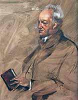 "Paul Mathias Padua (1903-1981) ""Portrait of poet Gerhard Hauptmann"""