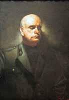 Paul Mathias Padua (1903-1981) Portrait of Benito Mussolini, 1945