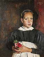 "Paul Mathias Padua (1903-1981) ""Maedchen mit Blumen"" , courtesy of Galerie Schueller, Munich"