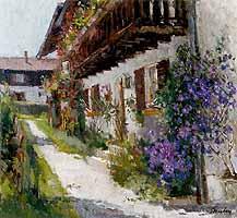 "Paul Paulus (1915-) ""Kohlgruberhaus auf der Insel"" - courtesy of Inselgalerie Gailer, Fraueninsel"