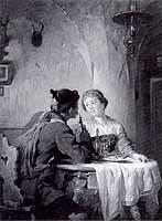 "Peter Baumgartner (1834-1911) ""Nette Unterhaltung"", ca 1875"