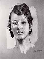 """Reinhold Max Eichler (1872-1947) """"Maedchenportrait"""""""