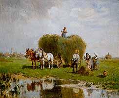 """Robert Schleich (1845-1934) """"Heuernte"""""""