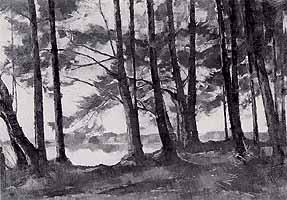 """Rudolf Groeschel (1891-1985) """"Am Seehamer See"""", 1978"""