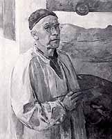 Rudolf Groeschel (1891-?) self portrait in 1968