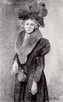 """Rudolf Hirth du Frenes (1846-1916) """"Elegante Frau mit Hut"""""""
