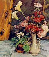 """Walter Puettner (1872-1953) """"Blumenstilleben"""""""