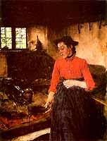 "Wilhelm Leibl (1844-1900) ""Maedchen am Herd"", 1895 - cortesy of Wallraf-Richartz-Museum, Koeln"