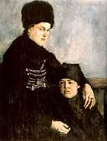"""Wilhelm Leibl (1844-1900) """"Dachauerin mit Kind"""", 1873/74 - courtesy of the Berlin Nationalgalerie"""