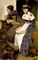 """Wilhelm Leibl (1844-1900) """"Drei Frauen in der Kirche"""", 1882 -courtest of the Hamurger Kunsthalle"""
