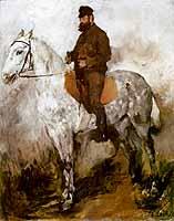 """Wilhelm Leibl (1844-1900) """"Der Schimmelreiter"""" 1872, courtesy of the Wallraf-Richartz-Museum, Koeln"""