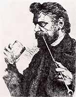 "Wilhelm Leibl (1844-1900) ""Bildnis Johann Sperl"""