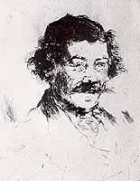 """Wilhelm Leibl (1844-1900) """"Bildnis Josef Wopfner"""""""