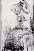 """Wilhelm Leibl (1844-1900) """"Weiblicher Halbakt"""""""