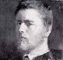 Wilhlelm Leibl (1844-1900) selfportrait, 1871