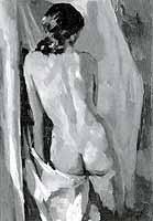 "Willibald Demmel (1914-1989) ""Rueckenakt Ingrid"", 1968"