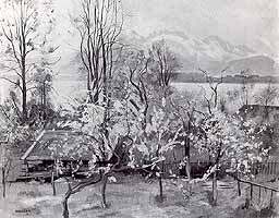 "Willi Weber (1895-1959) ""Fruehling am Chiemsee"""