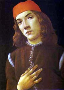 artist: Allessandro Botticelli, Portrait of a Youth. 1480s