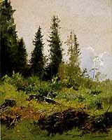 """August Fink (1846-1916) """"Waldlichtung"""""""