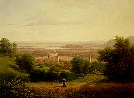 """Carl Haefner (1814-1873) """"Bei Brannenburg"""""""