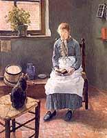 """Fritz Uhde (1848-1911) """"Lesendes Maedchen"""", 1885"""