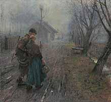 """Fritz Uhde (1848-1911) """"Schwerer Gang"""", 1890"""