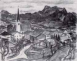 """Gerda Springer (1880-1960) """"Toerwang am Samerberg"""""""