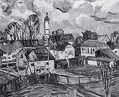 "Gerda Springer (1880-1960) ""Muehlfeldkirche in Bad Toelz"""