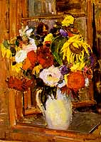 """Gerda Springer (1880-1960) """"Blumenstrass am Fenster"""""""