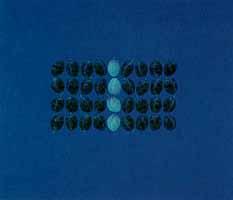 "Heidi Muggli ""Schwebend vor Blau"", Oil, 1999"