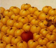 """Heidi Muggli """"Quittenstilleben"""", Oil, 1989"""