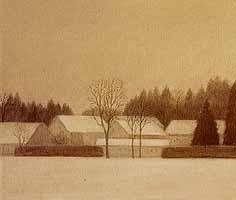"""Heidi Muggli """"Winterbild"""", Oil, 1988"""