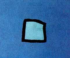 "Heidi Muggli ""Geschuetzter Raum"", Oil/Collage, 1997"