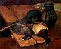 """Hiasl Maier-Erding (1894-1933) """"Ein Blassl und eine Weissente"""""""