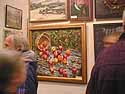 Bernadsky Jr's painting in the big exhibition hall