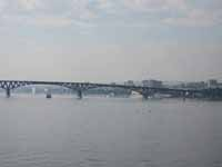 View of the Volga River, city of Saratov, Russia